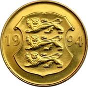 Estonia 5 Krooni 75th Anniversary - Estonian National Bank 1994 KM# 30 19 94 coin obverse