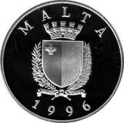 Malta 5 Liri Summer Olympic Games 1996 Atlanta 1996 Proof KM# 110 OLYMPIC GAMES 1996 LM 5 coin obverse