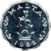 Malta 5 Mils 10th Anniversary of Decimalization 1982 FM (U) KM# 56 MALTA 1982 coin obverse