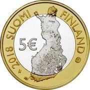 Finland 5€ Pallastunturi (Lapland) 2018 2018 SUOMI FINLAND 5€ coin obverse