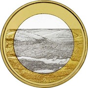 Finland 5€ Pallastunturi (Lapland) 2018 - coin reverse