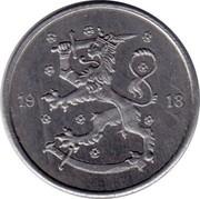 Finland 5 Pennia Trial strike 1918 very rare KM# TS6 19 18 coin obverse