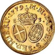 Malta 5 Scudi Emmanuel de Rohan 1779 KM# 318 ∙M∙M∙HOS∙ETS∙SEP.HIERU∙1779 coin reverse