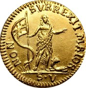 Malta 5 Scudi Emmanuel Pinto 1756 KM# 254 SVRREXIT MAIOR NON S∙V coin reverse
