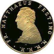 Malta 5 Scvdi St. John give the banner to Frey M. Festing 2011 Proof FR. MATTHAEUS FESTING M.M.H.H. N. coin obverse