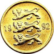 Estonia 5 Senti 1992 KM# 21 Standard Coinage coin obverse