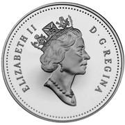 Canada 50 Cents Coat of arms 1997 Proof KM# 290 ELIZABETH II D ∙ G ∙ REGINA coin obverse
