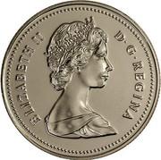 Canada 50 Cents Coat of arms SmBds 1988 Proof KM# 75.3 ELIZABETH II D∙G∙REGINA coin obverse