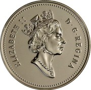Canada 50 Cents Elizabeth II 3rd portrait 1990 Proof KM# 185 ELIZABETH II D∙G∙REGINA coin obverse