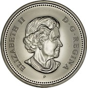Canada 50 Cents Elizabeth II 4th portrait 2004 P KM# 494 ELIZABETH II D ∙ G ∙ REGINA SB coin obverse