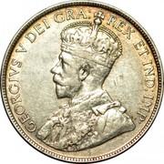 Canada 50 Cents George V 1918 C KM# 12 GEORGIVS V DEI GRA: REX ET IND:IMP coin obverse