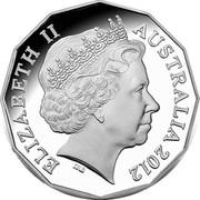 Australia 50 Cents The Queen's Diamond Jubilee 2012 Proof ELIZABETH II AUSTRALIA 2012 coin obverse
