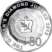 Australia 50 Cents The Queen's Diamond Jubilee 2012 Proof THE QUEEN'S DIAMOND JUBILEE 2012 50 coin reverse