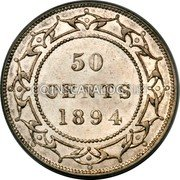Canada 50 Cents Victoria 1894 KM# 6 50 CENTS coin reverse