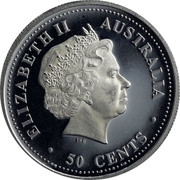 Australia 50 Cents Year of the Pig 2007 P ELIZABETH II AUSTRALIA 50 CENTS IRB coin obverse