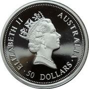 Australia 50 Dollars (Koala) ELIZABETH II AUSTRALIA ∙ 50 DOLLARS ∙ RDM coin obverse