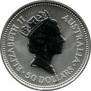 Australia 50 Dollars (Koala) ELIZABETH II AUSTRALIA 50 DOLLARS RDM coin obverse
