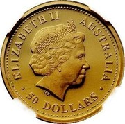 Australia 50 Dollars Nugget 2000 P ELIZABETH II AUSTRALIA • 50 DOLLARS • RDM coin obverse