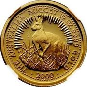 Australia 50 Dollars Nugget 2000 P THE AUSTRALIAN NUGGET 1/2 OZ. 9999 GOLD • 2000 • coin reverse