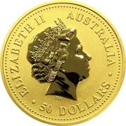 Australia 50 Dollars Year of the Pig - Colorized 2007 MS-BU ELIZABETH II AUSTRALIA ∙50 DOLLARS∙ IRB coin obverse