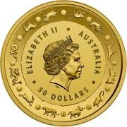 Australia 50 Dollars Year of the Pig (Gold Lunar Series II) 2019 Proof ELIZABETH II AUSTRALIA 50 DOLLARS IRB coin obverse