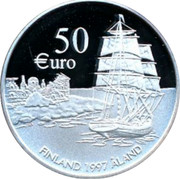 Finland 50 Euro 75 Years of Aland Self-Government 1997 Proof 50 €URO FINLAND 1997 ÅLAND coin obverse