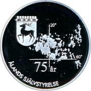 Finland 50 Euro 75 Years of Aland Self-Government 1997 Proof 75 ÅR ÅLANDS SJÄLVSTYRELSE coin reverse