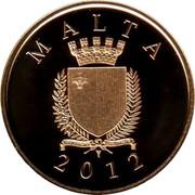 Malta 50 Euro Antonio Sciortino 2012 Proof KM# 146 MALTA REPUBBLIKA TA' MALTA 2012 coin obverse