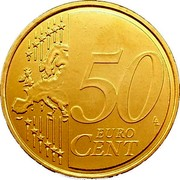 Malta 50 Euro Cent Maltese coat of arms 2008 KM# 130 50 EURO CENT LL coin reverse