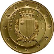 Malta 50 Euro Poet Dun Karm Psaila 2013 Proof KM# 153 MALTA 2013 coin obverse