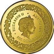 Australia 500 Dollars Australian Fabulous Four 2015 ELIZABETH II AUSTRALIA • 500 DOLLARS • IRB coin obverse