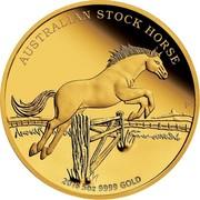 Australia 500 Dollars Australian Stoch Horse 2016 P AUSTRALIAN STOCK HORSE 2016 5 OZ 9999 GOLD P JM coin reverse