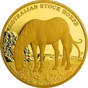 Australia 500 Dollars Australian Stoch Horse 2017 P AUSTRALIAN STOCK HORSE P JM coin reverse