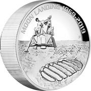 Australia 8 Dollars Apollo 11 - 50 Years Moonlanding 2019 MOON LANDING 1969-2019 coin reverse