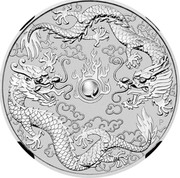 Australia Dollar Double Dragon 2019  coin reverse