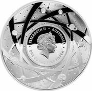 Australia Five Dollars The Sun 2019 ELIZABETH II AUSTRALIA ONE OUNCE FINE SILVER coin obverse