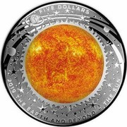 Australia Five Dollars The Sun 2019 2019 THE EARTH AND BEYOND - THE SUN FIVE DOLLARS coin reverse