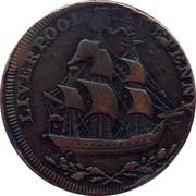 UK Halfpenny Lancashire - Liverpool-Bishop Blaize ND (1791-1793)  LIVERPOOL HALFPENNY coin obverse