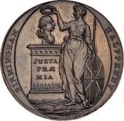UK Halfpenny Warwickshire - Birmingham-Clarke's 1795  BIRMINGHAM HALFPENNY JUSTA PRÆ MIA coin obverse