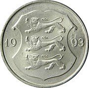 Estonia Kroon 1993 KM# 28 Standard Coinage coin obverse