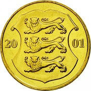 Estonia Kroon 2001 KM# 35 Standard Coinage coin obverse