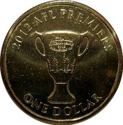 Australia One Dollar AFL Premiers 2012 In PNC only KM# 2022a 2012 AFL PREMIERS ONE DOLLAR coin reverse