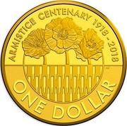 Australia One Dollar Armistice 100 Years On 2018 ARMISTICE CENTENARY 1918-2018 ONE DOLLAR coin reverse
