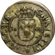 Estonia Ore Christina 1650 KM# 6 CHRISTINA ∙ D G ∙ RE : SVE ∙ 16 - 48 coin obverse