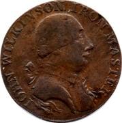 UK ½ Penny Warwickshire - Wilkinson-Pecunia) 1791-1793 IOHN WILKINSON IRON MASTER coin obverse