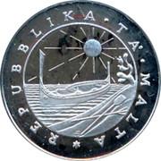 Malta Pound Departure of foreign forces 1979 FM (U) KM# 51 REPUBBLIKA . TA' . MALTA . coin obverse