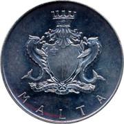 Malta Pound Temi Zammit 1973 KM# 19 MALTA coin obverse