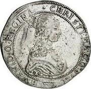 Estonia Riksdaler Christina 1652 GP KM# 8.1 CHRISTINA : D : G ∙ SVEC . GOTH . VAND . Q : REGINA coin obverse