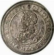 Estonia Riksdaler Riksdaler - Carl XI 1664 KM# 19 CAROLVS ∙ D : G : SVE : GOTH : WAN : Q : REX : ET : PR : HÆ coin obverse