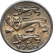 Estonia Sent 1929 KM# 10 Reform Coinage 1929 coin obverse